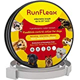 RunFleax Dog Collar flea and tick Control – flea and tick Prevention for Dogs – 100% Natural Ingredients – 8 Months pet Protection – Hypoallergenic flea Collar for Dogs 31 cm