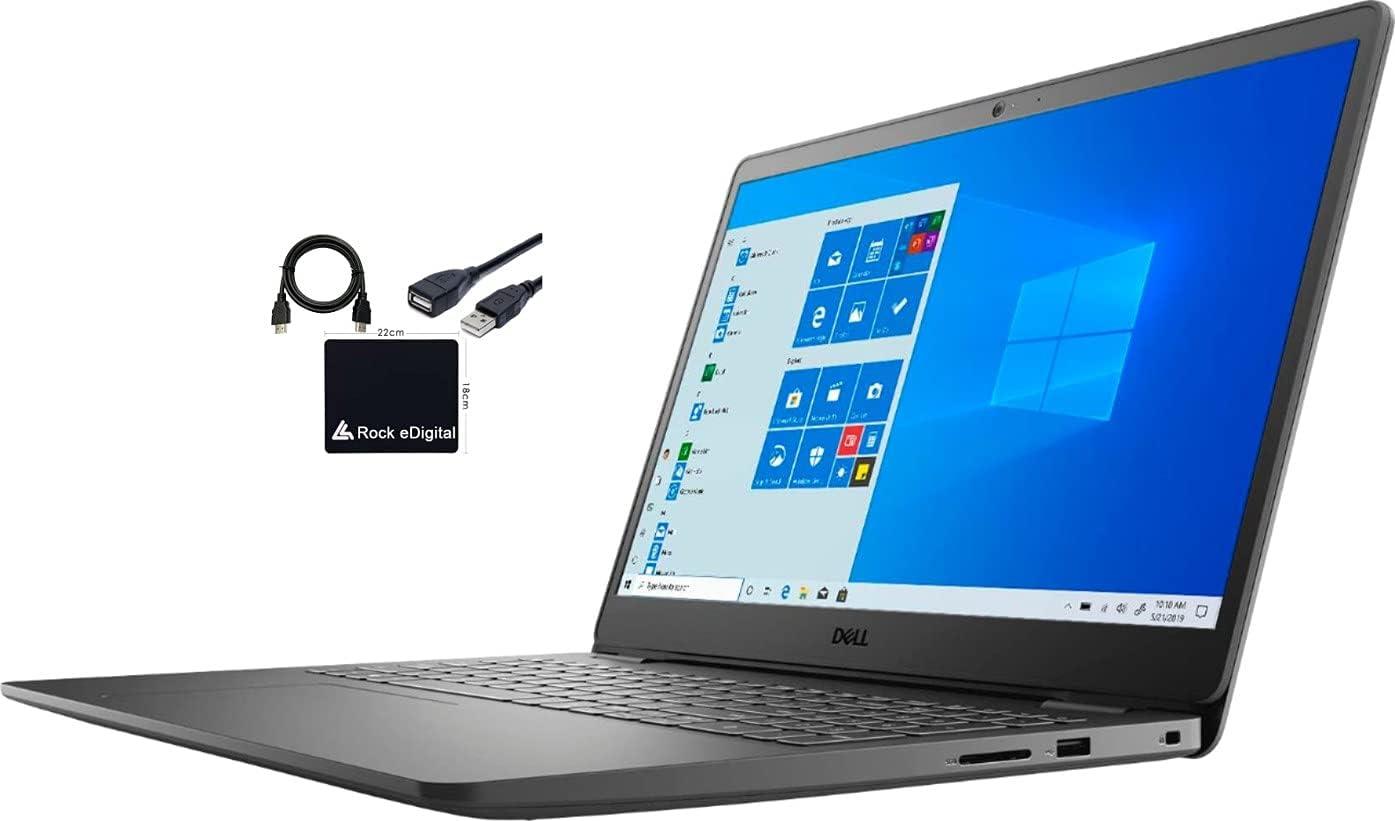 "2021 Dell Inspiron 3000 I3505 15.6"" FHD Touchscreen Business Laptop AMD Ryzen 5 3450U 12GB DDR4 256GB NVMe SSD Radeon Vega 8 Graphics HDMI Webcam RJ-45 Windows 10 Pro w/RE Accessories"