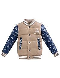 iikids Unisex Boys/Girls Warm Light Weight Snowsuit Baseball Coat Style