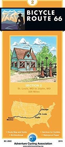 Bicycle Route 66 Map #2: St. Louis, Mo - Joplin, Mo - Mo Louis Mall St