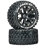 traxxas slash wheels - Duratrax DTXC3560 Six Pack RC Staduim Truck Tires with Foam Inserts, C2 Soft Compound, ST 2.8