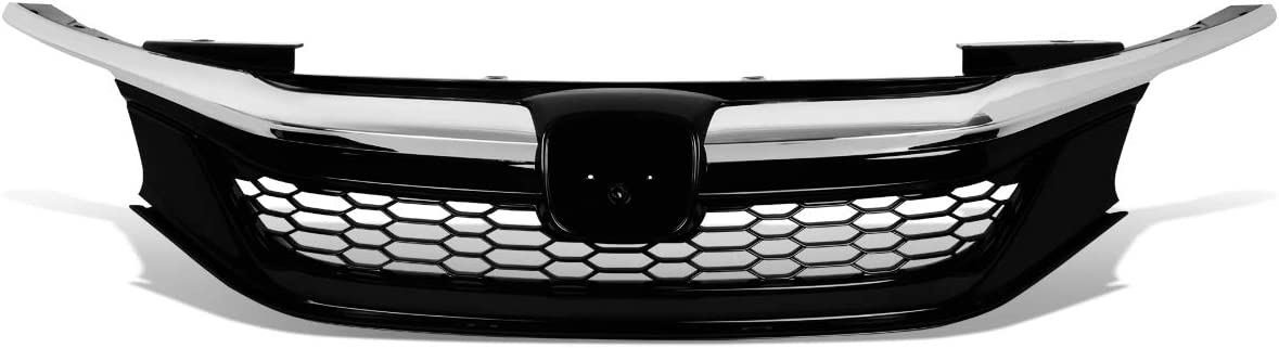 DNA Motoring GRILL-MK-001-CH Honeycomb Mesh Front Bumper Upper Grille//Grill Chrome