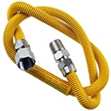 Supplying Demand 203-3132 Dryer Gas Hose With Fittings Compatible With 1/2' MIP x 1/2' FIP Hose Connections (3 Feet)
