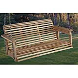 Beecham Swing Co. Rolled Back 4 ft. Wood Porch Swing Review