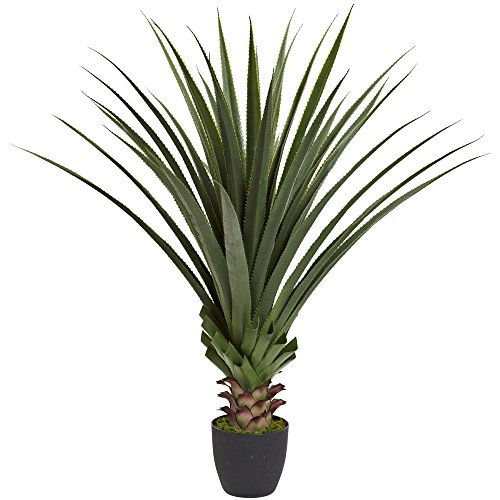 Nearly Natural Spiked Agave Plant, 4' - Plant Agave Silk