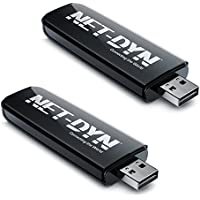 2-Pack Dual Band USB Wireless WiFi Adapter, N600, 5GHz and 2.4GHz (300/300Mbps), Amazon Top Rated Internet Dongle for PC and Mac, by NET-DYN