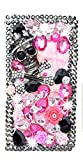 STENES Galaxy Note 9 Case - Stylish - 3D Handmade Bling Crystal Skull Rose Flowers Design Magnetic Wallet Credit Card Slots Fold Stand Leather Cover for Samsung Galaxy Note 9 - Pink
