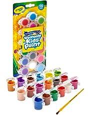 Crayola Washable Kids Paint Art Tools, 18 Colors