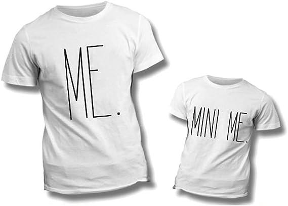 Altra Marca Coppia di T Shirt Personalizzate per Padre e Figlio Magliette per la Festa del papà Mini Me