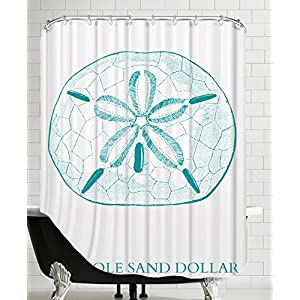 51MKWTjGKIL._SS300_ 200+ Beach Shower Curtains and Nautical Shower Curtains