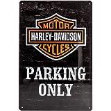 20 x 30 centimetri piastra metallica - modello di cucitura per schede di parcheggio Harley Davidson