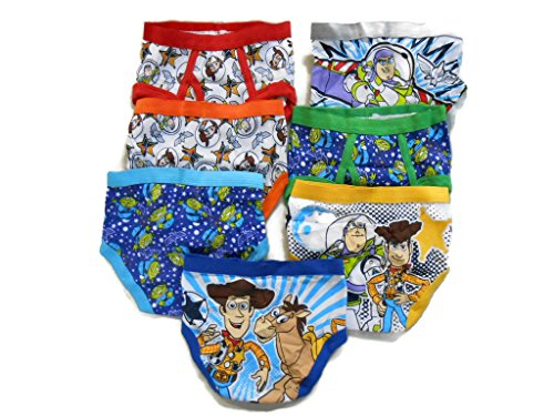 (Disney Little Boys' Toy Story 7-Pack Brief, Assorted Prints, 2T/3T)
