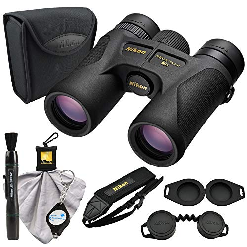 Nikon PROSTAFF 7S 10x30 Compact Binoculars (16001) Bundle with a Nikon Lens Pen, Cleaning Cloth and a Lumintrail Keychain Light