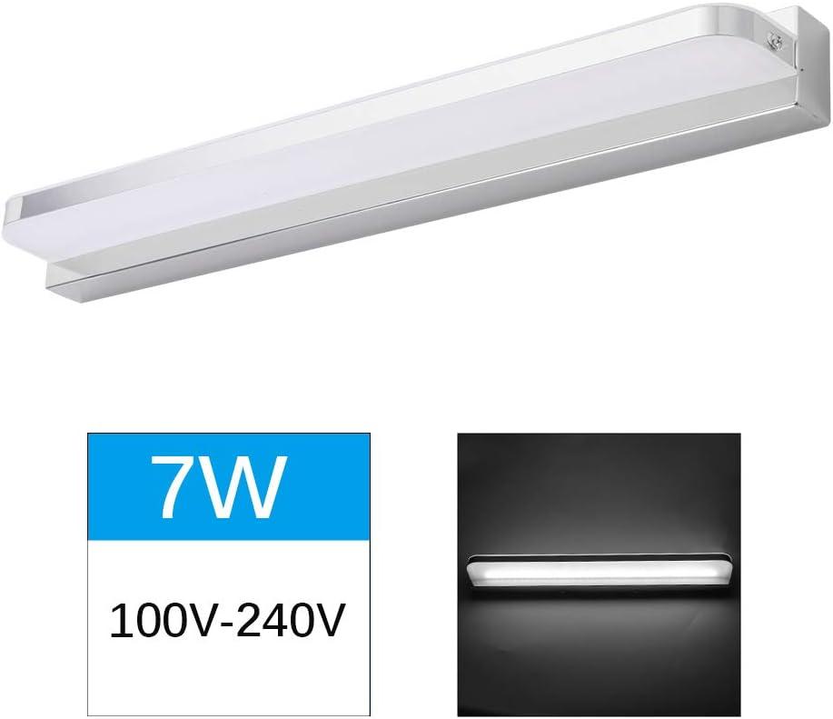 7W Warmes Wei/ß//K/ühles Wei/ß SUNJULY Wandleuchte Spiegellampe Wasserdicht Edelstahl f/ür Badzimmer und Wandbeleuchtung LED Spiegelleuchte Badezimmer