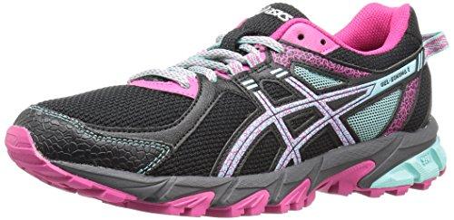 ASICS Women's Gel-Sonoma 2 Trail Runner, Black/Aqua Haze/Sport Pink, 7 M US