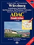ADAC Stadtatlanten, Großraum Städte- und Gemeindeatlas Würzburg