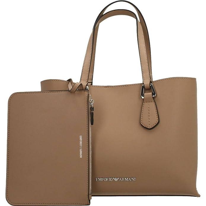Emporio Armani Femmes sac cabas petit faux cuir Beige Une Taille   Amazon.fr  Chaussures et Sacs f152a5661af