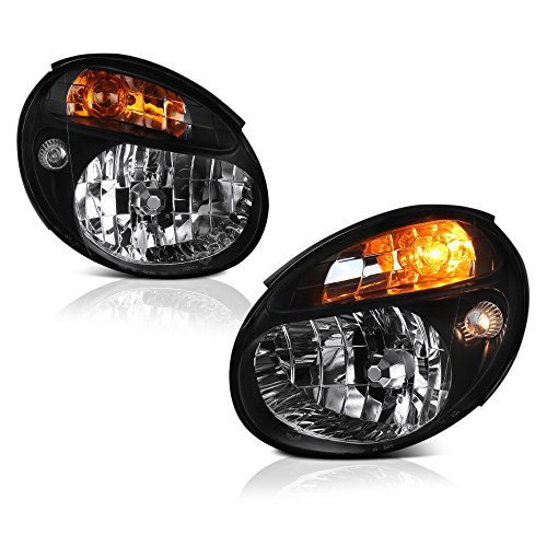 VIPMotoZ 2002-2003 Subaru Impreza WRX Headlights - Matte Black Housing, Driver and Passenger Side