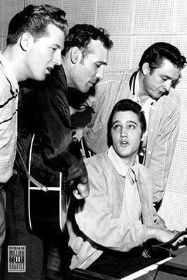 Quartet Legends (Million Dollar Quartet - Elvis Presley - Jerry Lee Lewis - Carl Perkins - Johny Cash 36x24 Music Art Print Poster)