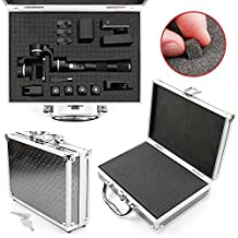 DURAGADGET Protective Silver Aluminium Flight Case With Shock Absorbing D.I.Y Customizable Foam Interior - Compatible with PNJ Feiyu G4 Plus Action Camera