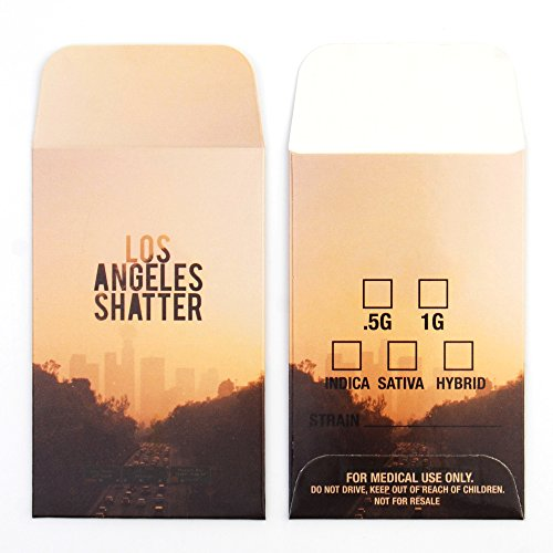 1000 Los Angeles LA Collective Supply Shatter Labels Concentrate Packaging Extract Envelopes #098 by Shatter Labels