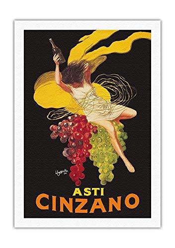 MKJD Pacifica Island Art Asti Cinzano - Asti Spumante - Italian Sparkling White Wine - Vintage Advertising Poster by Leonetto Cappiello c.1910 - Fine Art Rolled Canvas Print - 27in x 40in ()