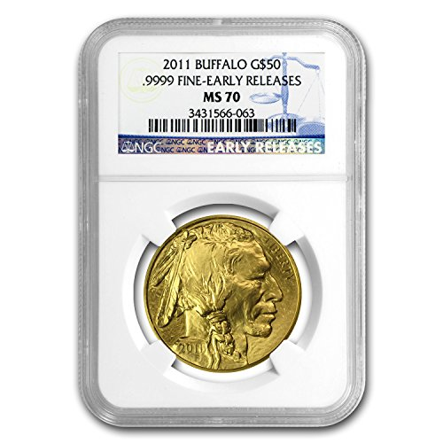 2011 1 oz Gold Buffalo MS-70 NGC (Early Releases) Gold MS-70 NGC