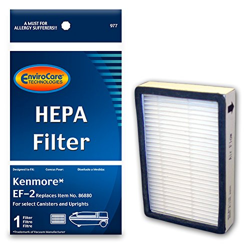 EnviroCare Replacement HEPA Filter for Kenmore EF-2 Canisters and Uprights 86880