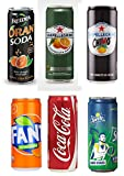 Vittleitaly: Six Assorted Italian Soda * 11.15 Fluid Ounce (33cl) 1 Each * [ Italian Import ]