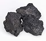 American Fireglass Black Lava Rock (LAVA-XXL-10), 4-Inch to 6-Inch Pieces, 10 Pounds
