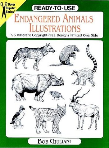 - Ready-to-Use Endangered Animals Illustrations: 96 Different Copyright-Free Designs Printed One Side (Clip Art Series)