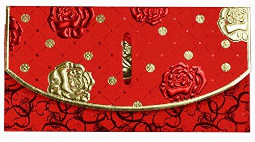 Wjypmic Chinese Red Envelopes, Wedding Red Pockets, Chinese red packet, Red packets (Pack of 6) HB67 (01)