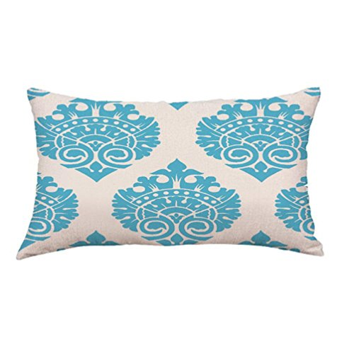 Geometric Lines Rectangle Waist Pillow Case Cushion Cover Sofa Bed Home Decoration (J) (Best Stores Home Decoration)