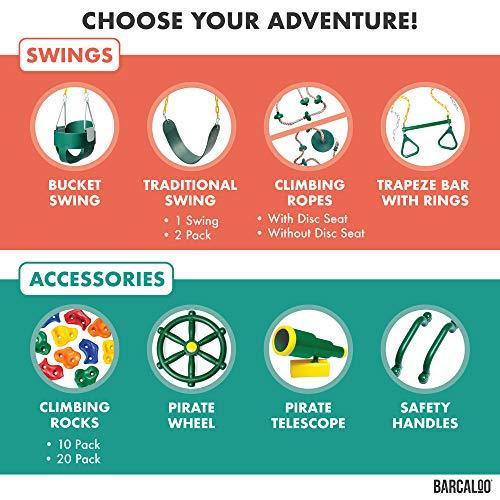Barcaloo Kids Playground Steering Wheel Pirate Ship Wheel for Jungle Gym or Swing Set
