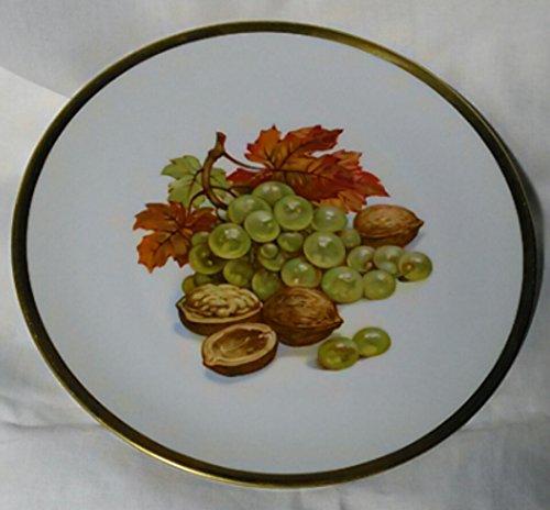 PMR Bavaria Jaeger Co Germany- Golden Crown E&R - Harvest Pattern - Dessert/Salad Plate
