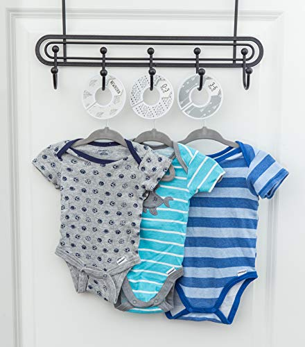 Grey Gender Neutral Baby Clothes Dividers and Nursery Closet Organizer Baby Nest Designs Unisex Closet Dividers for Baby Clothes 7X Baby Clothing Size Dividers from Newborn Infant to 24 Months