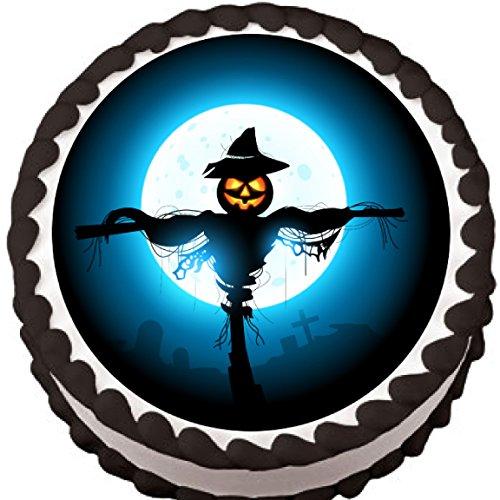 Pumpkin Scarecrow Halloween Edible Cake (Tool No Quarter Halloween)