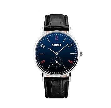 oumosi Classic los amantes de los relojes reloj de pulsera de piel Para Pareja: Amazon.es: Hogar
