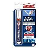UniBond Grout Reviver Pen / Anti-mould grout pen for bathroom, kitchen, shower and floor tiles / 1 x 7ml