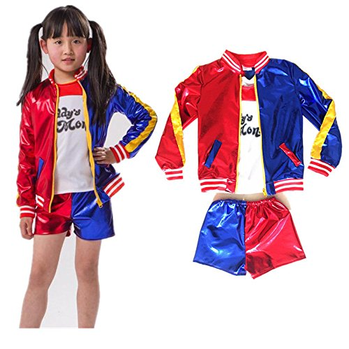 Kids Girls Coat Shorts Tops Set Halloween Costume (Kids Girls Coat)