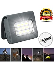 Kiwaly LED Safety Lights Running Lights for Runners Dog Light for Night Walking,Clip on pet collar light Dog Flash Collar Light Safety Lights of Dogs and Cats Strong Magnetic Clip USB Rechargeable