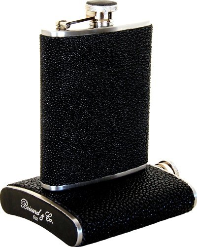 Brizard & Co. Stingray Flask, Cigar Cutter, And Cigar Lighter Gift Set