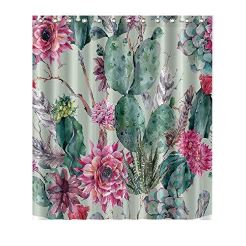 Neband Shower Curtain Sets Bathroom Accessories, Fabric Waterproof Bathroom Shower Curtain with 12 Hooks 71