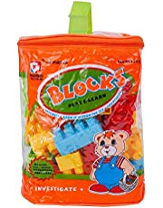 56-Piece Building Blocks Set With Tote Bags