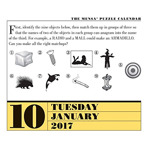 Mensa Brain Puzzlers 2017 Page-A-Day Calendar Photo #3