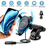 qi note edge - Wireless Car Charger, EnergyInnovations Fast Qi Wireless Charging Dashboard Suction & Vent Mount Phone Holder for iPhone X, 8/8+, Samsung Galaxy S8/S8+/S7/S7 edge/S6 edge +/Note 8/5, and Qi Devices