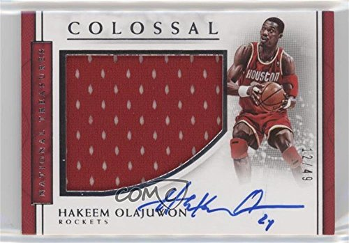 Hakeem Olajuwon #12/49 (Basketball Card) 2016-17 Panini National Treasures - Colossal Jersey Autographs #43