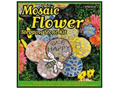 Mosaic Flower Stepping Stone Kit by Milestones