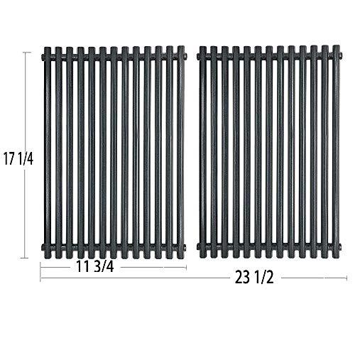 Htanch PG525 (2-Pack) Porcelain Steel Grill Grid Grates for Weber 7525 Grates and Weber Spirit E-310 & E-320, Spirit S-310 & S-320, Spirit 700, Weber 900, Genesis Silver B/C, Genesis I - IV