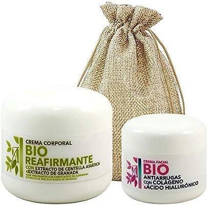 Pack 2 Cremas BIO Esenssi • Crema Facial BIO Antiarrugas con Colágeno 50 ml + Crema Corporal BIO Reafirmante con Centella Asiática 200 ml: Amazon.es: Belleza